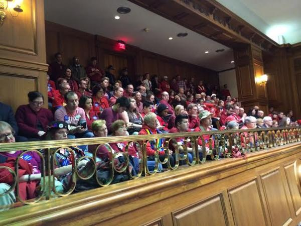 Indiana House chambers were packed Wednesday as the House Elections Committee heard testimony on HJR-3.