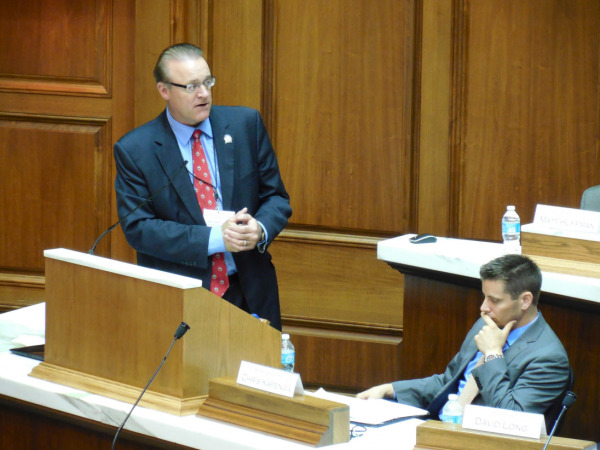 Ind. Sen. David Long addresses a meeting of The Mount Vernon Assembly, which met in Indianapolis this month.