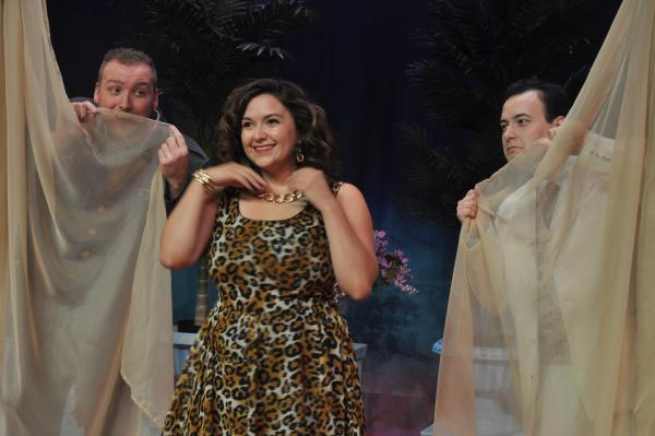 "Renee Gonzales takes center stage in Fort Wayne Civic Theatre's production of ""Dirty Rotten Scoundrels,"" which runs through Aug. 10."