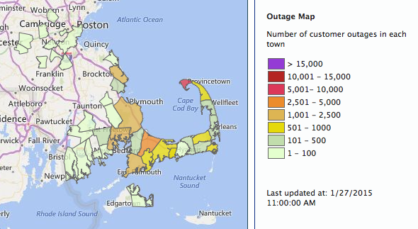 Nstar Outage Map Images High Winds Lead To Power Outages - National grid power outage map ri