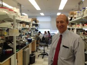 Dr. David Holtzman stands in his lab at Washington University in St. Louis, one of the leading Alzheimer's research labs in the world.