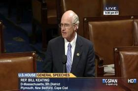 Congressman Bill Keating leads the floor debate on delaying implementation of new FEMA flood maps.