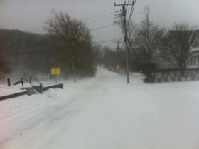 School Street in Woods Hole at 9 a.m.