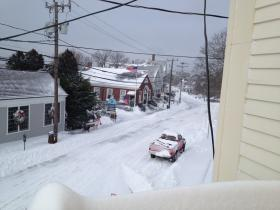Water Street in Woods Hole, mid-day on Friday.