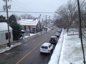 Water Street in Woods Hole, mid-day on Thursday.