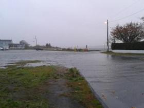 Flooding in Fairhaven, MA. Taken on Oct. 29, 2012