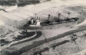 After the Maltese freighter Eldia was freed from Nauset Beach, it was towed to New Jersey and sold for scrap.