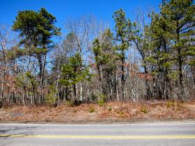 This vacant lot on Echo Road in Mashpee is the planned site for a new marijuana dispensary.