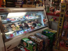 About a half-mile from the marijuana dispensary's location, the Mashpee Country Store has replaced the cold cuts in its deli case with a variety of pipes and bongs. A store employee refused to comment.