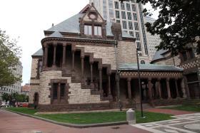 Trinity Church, designed by Henry Hobson Richardson.