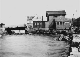 Hurricane damage 1938, Woods Hole