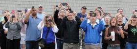 Cape Cod Times photographer Steve Heaslip caught these onlookers reacting to the demolition of Yarmouth's Mill Hill Club.