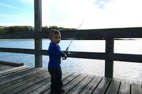 This guy knows where to head for great local fishing action.