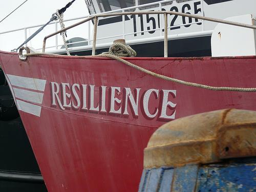 An aptly named fishing boat in New Bedford Harbor.