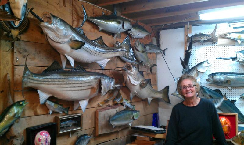 Taxidermist Janet Messineo in her basement workshop.