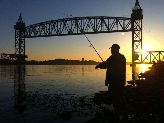 The Cape Cod Canal is a legendary destination for shore anglers.