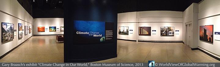 "Gary Braasch's exhibit ""Climate Change in our World"" is currently at the Boston Museum of Science."
