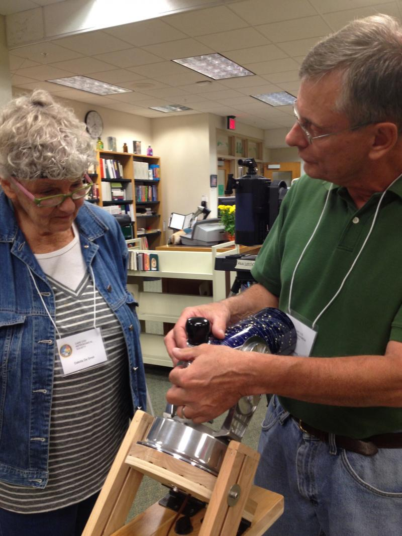 Members show off and explore the variety of telescopes, old and new.