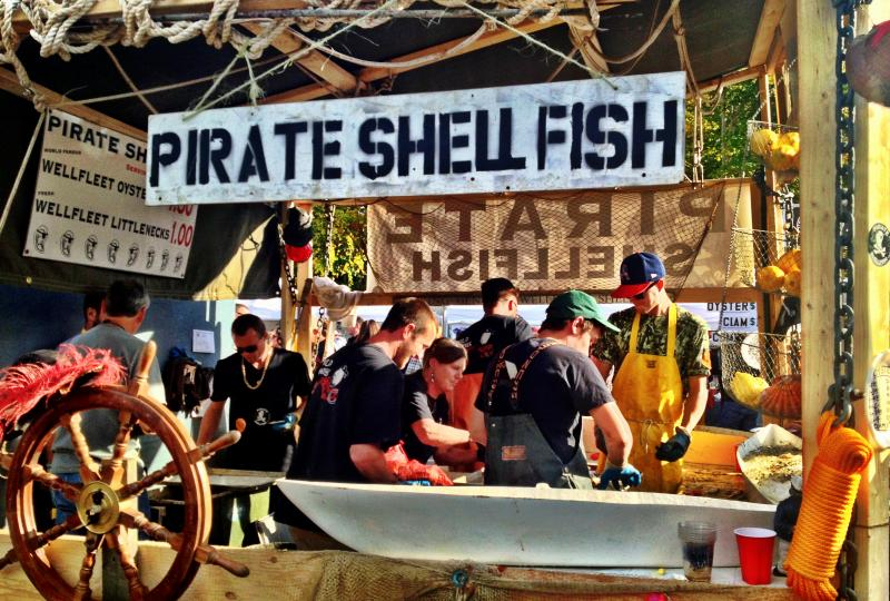 Pirate shellfish shuckers.