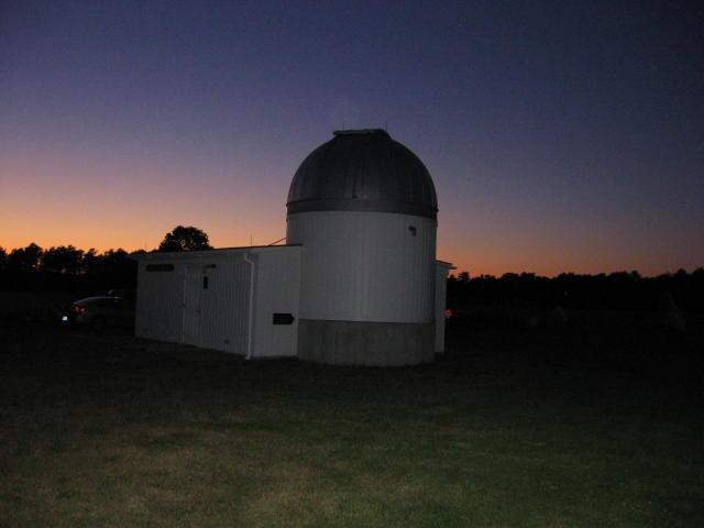 Outside the Werner Schmidt Observatory