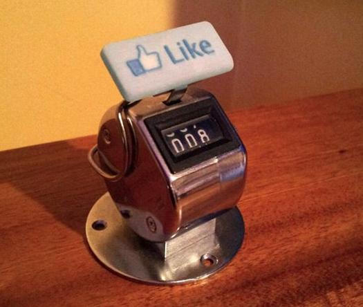 "Analog ""Like"" button by Brian Kane"
