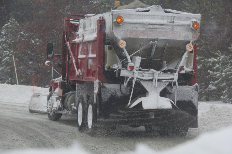 Trucks out in force sanding and plowing.
