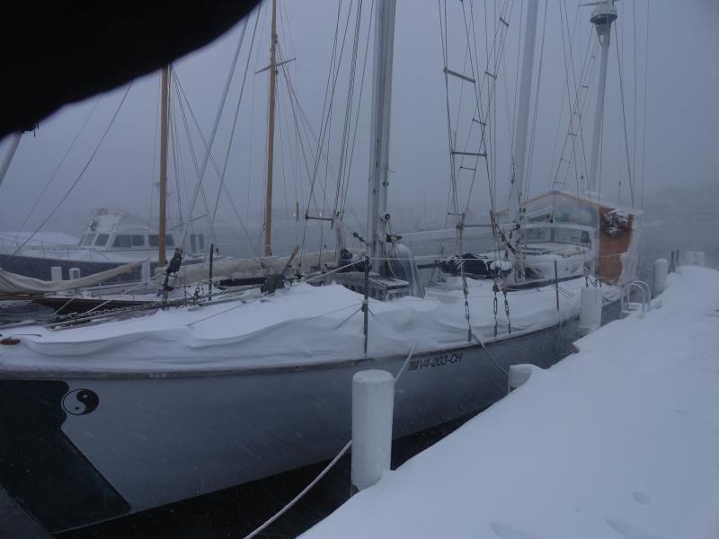 Schooner Star at the dock at Falmouth Marine, Friday morning.