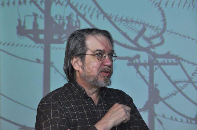 Dennis Hlynsky with video projection