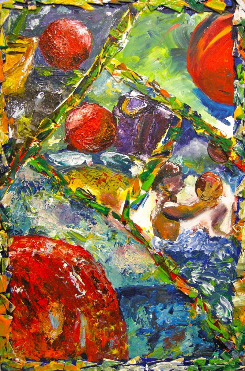 """""""Geometry Meets Nature"""" inspred by Donald Beal """"Max (The Red Ball)"""""""
