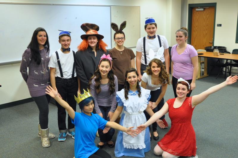 "The cast of ""Alice in Wonderland"""