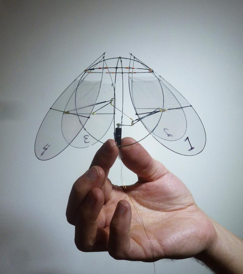 This aerial robot pushes down on air, much the same way jellyfish push water.