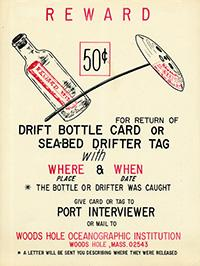 Poster with drift bottle information