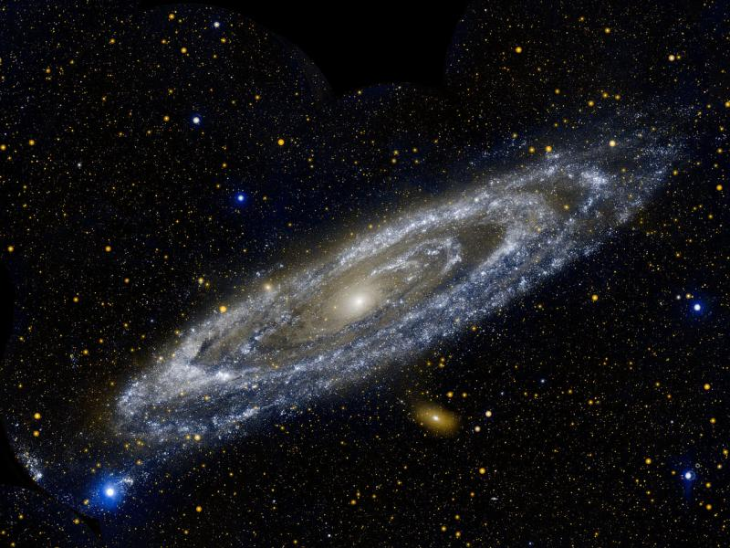 The Andromeda galaxy is our largest galactic neighbor, measuring 260,000 light-years across.