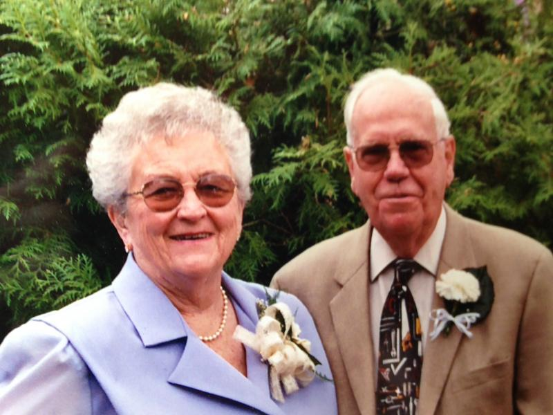 Harold and Marian on their 50th wedding anniversary