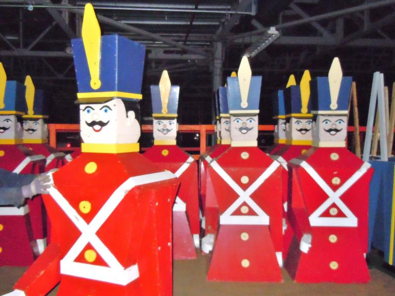 Hal designed and built these iconic wooden soldiers for Shopper's World in Framingham