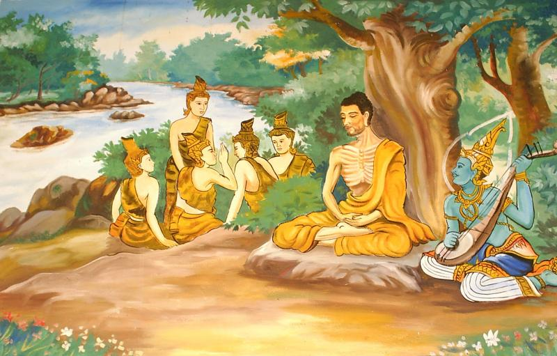 Sidhartha Gautama - the Buddha - in meditation.