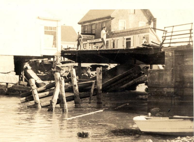 Woods Hole drawbridge damaged in 1938 hurricane