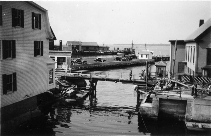 Woods Hole drawbridge repairs after 1938 hurricane