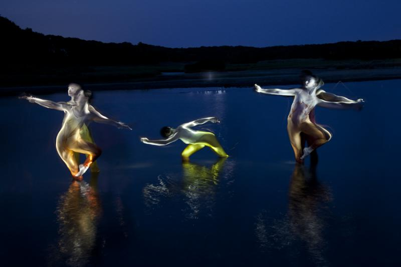 Dancers in Great Sippewissett Marsh, Falmouth, MA.