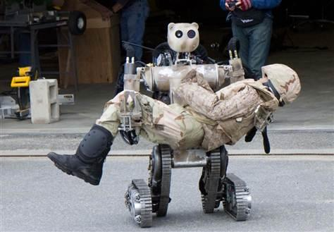 BEAR, or Battlefield Extraction-Assist Robot, is designed to help soldiers in need. But other robots could take on roles as combatants.