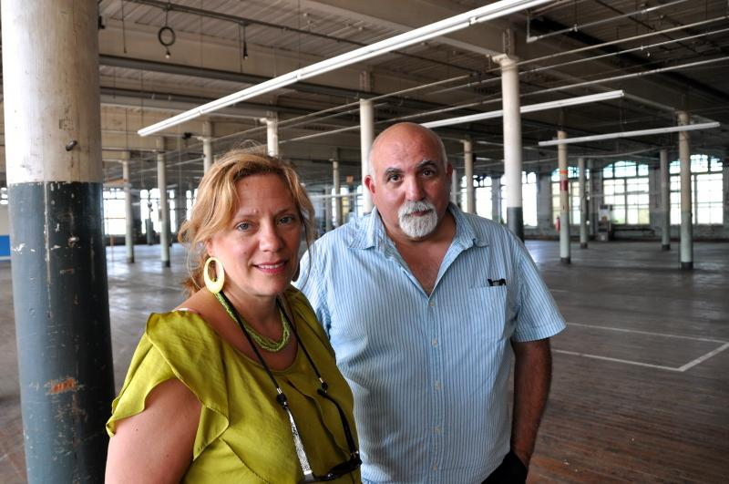 New Bedford's Historic Preservation Planner Anne Louro, and local historian and publisher Joe Thomas