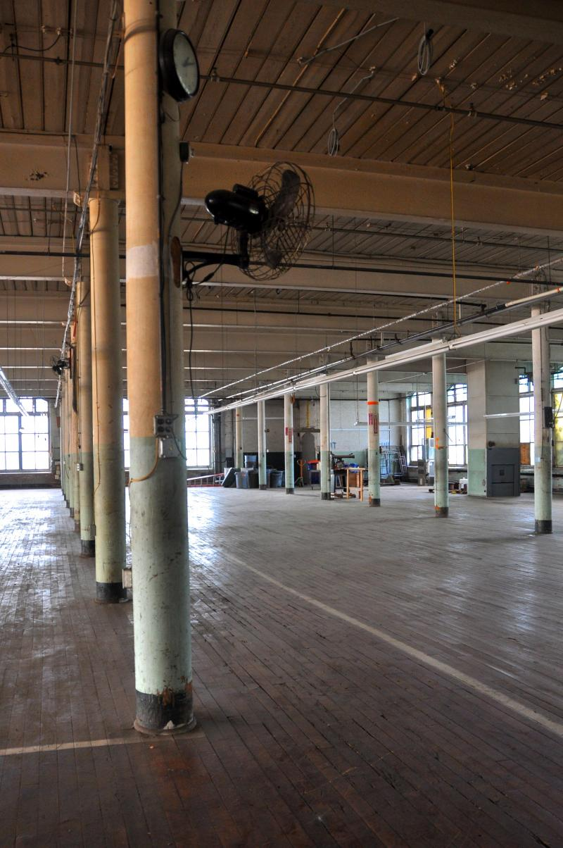 Interior of former Nashawena Mill