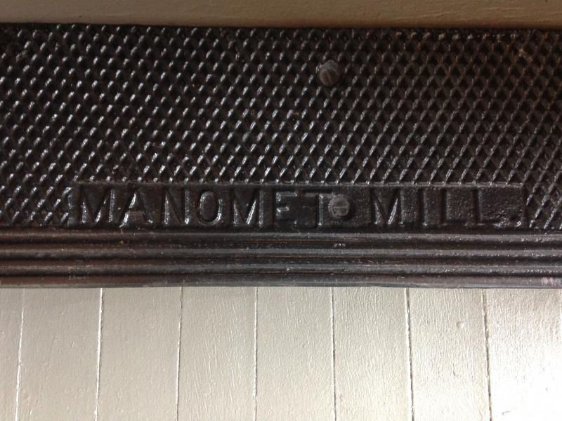 Original Manomet Mill stair tread at Manomet Place