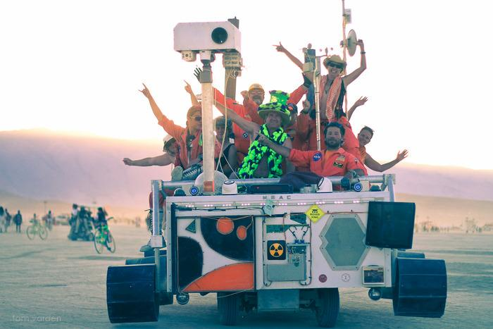 Mars Rover Art Car from the Black Rock Observatory
