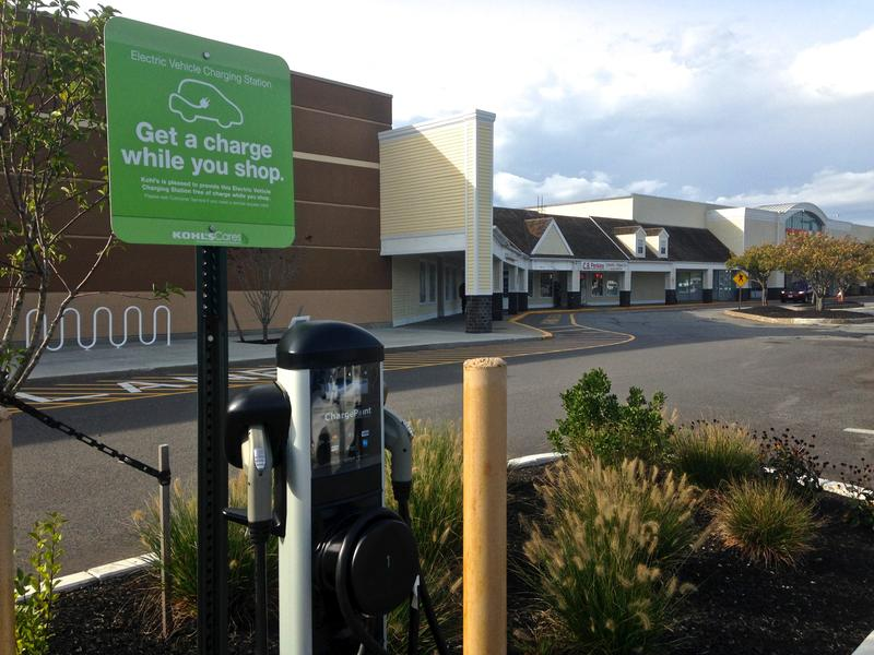 EV charging station in Hyannis