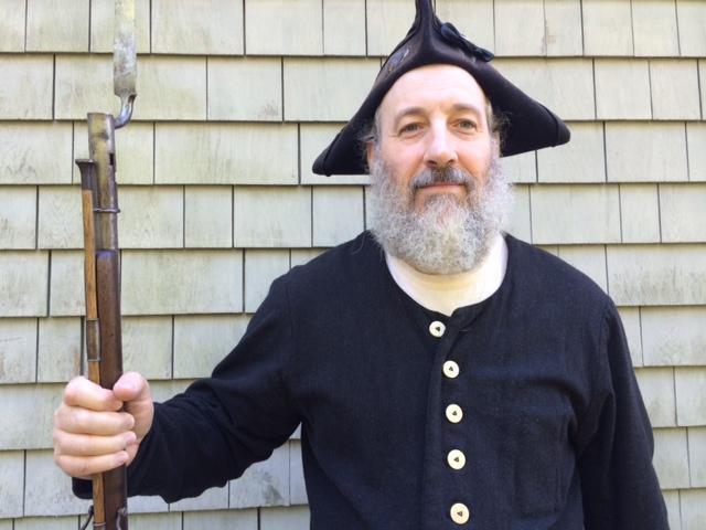 Doug Butler in his hand-made sailor's attire. October 2014. Centerville.