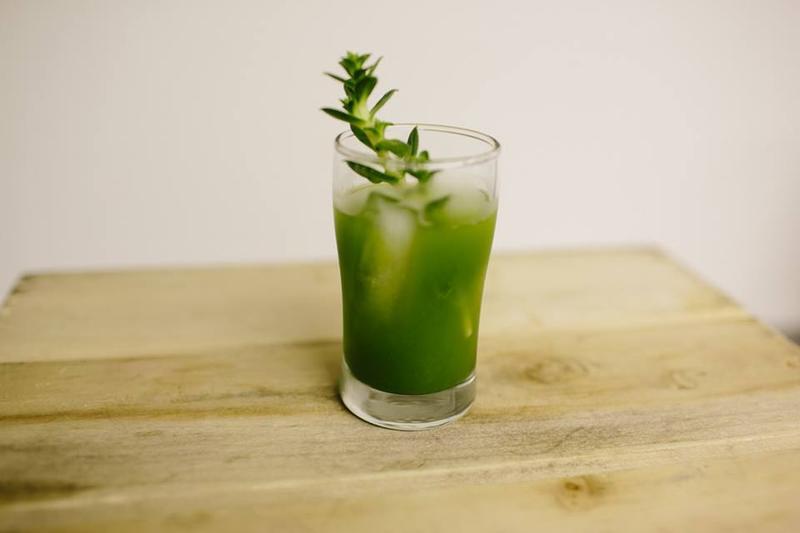 Sea Cucumber (Sea Sandwort)  and Beach Rose Vodka Tonic