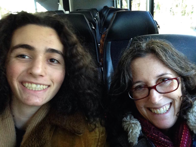 Sue Natali, a climate scientist at Woods Hole Research Center, and her son, Clancy, flew to Paris on Thursday..