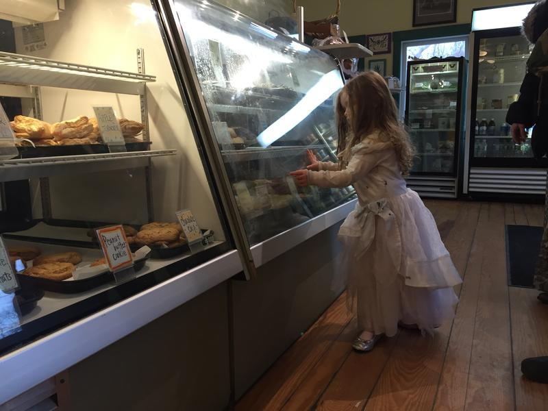 A princess visits the Scottish Bakehouse.