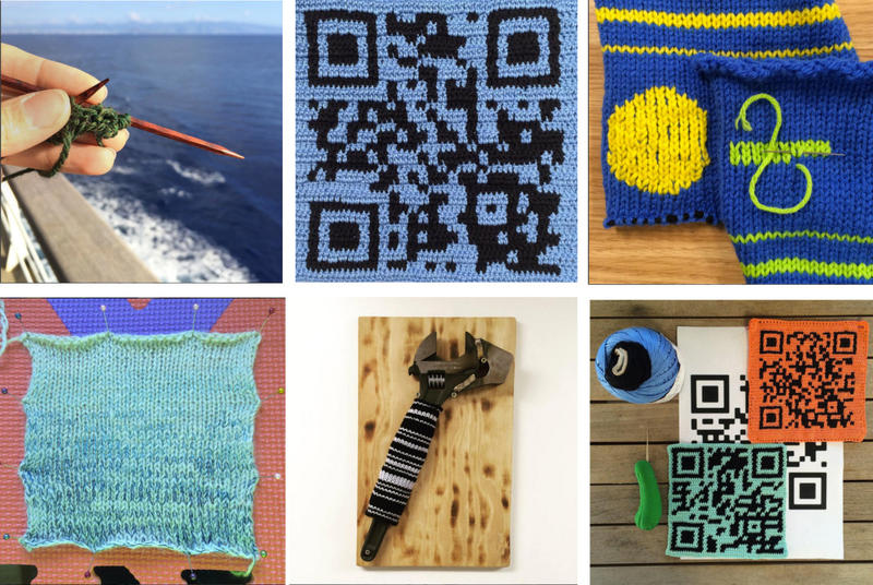 Much of the artwork Michelle Schwengel-Regala's created aboard the R/V Falkor involved codes, and covering everyday items in yarn art.